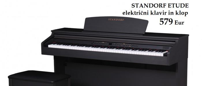ZOPET NA ZALOGI -  ... Električni klavir Standorf in darilo - STOL - 579 Eur