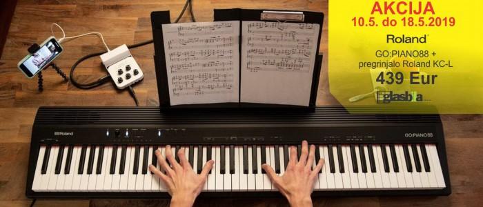 ROLAND - AKCIJA ... PRENOSNI KLAVIR GO:PIANO88 + PREGRINJALO 439 Eur