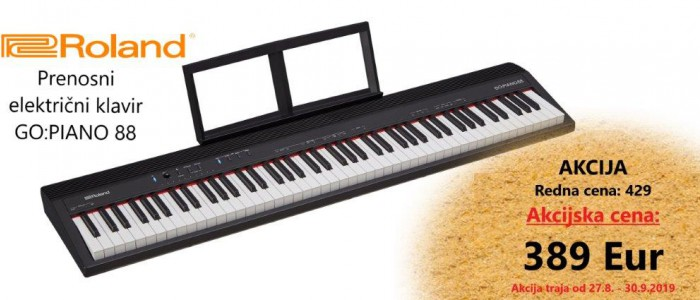 ROLAND - AKCIJA ... PRENOSNI KLAVIR GO:PIANO88 - samo 389 Eur!